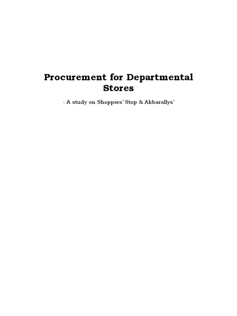 project report on shopper stop Shopper's stop, ltd project description: the shopper's stop, ltd mergers & acquisitions this report includes shopper's stop.