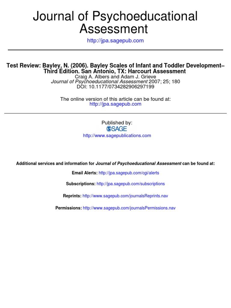 Bayley review test assessment psychology cognitive science nvjuhfo Images