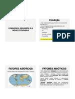 Fatores abioticos condições recursos e nicho ecológico