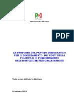 Regione_riduzione Dei Costi_le Proposte del  Pd Marche 14 Ottobre 2011