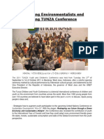 Report on The UNEP TUNZA Youth and Children Conference on the Environment 2011
