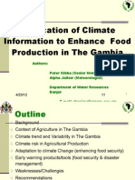 Climate Change Information In The Gambia