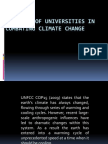 The Role of Universities in Combating Global Warming (1)
