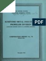 USSBS Report 21, Sumitomo Metals Industries, Propeller Division