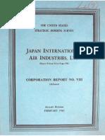USSBS Report 23, Japanese International Air Industries