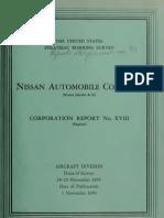 USSBS Report 33, Nissan Automobile Company