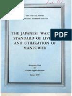USSBS Report 42, The Japanese Wartime Standard of Living