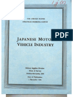 USSBS Report 47, Japanese Motor Vehicle Industry