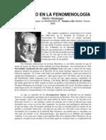 Mi Camino en La Fenomenologia - Martin Heidegger