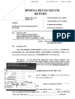 applications for and subpoena duces tecum davenport v slayter
