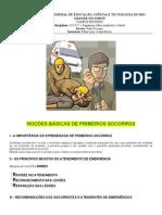 APOSTILA DE NOÇÕES BÁSICAS DE PRIMEIROS SOCORROS