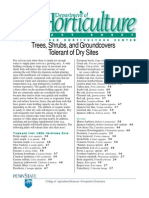 Trees, Shrubs, And Groundcovers Tolerant of Dry Sites