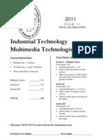 2011 Preliminary IT-MM Assessment Task 4 - Final Exam (1)