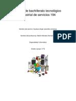 Centro de bachillerato tecnológico industrial de servicios 194