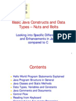 basic java constructs and data types