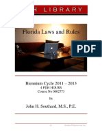 2011-2013 Florida Laws and Rules Course