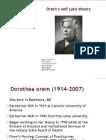 Orem Theory Funal