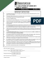 AIEEE2011 Rescheduled TestPaper Eng Solutions