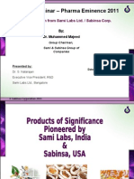 Pioneered Products of Sabinsa- Sep 16, 2011