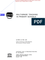 Multi Grade Teaching Primary Schools