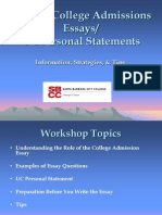 Writing College Admissions Essays [PDF Library]