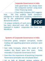 Evolution of Corp Governance