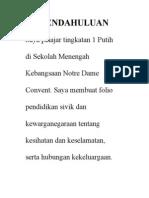 Pendahuluan Folio Sivik