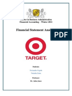 Target Corporation Financial Accounting Final Assignment