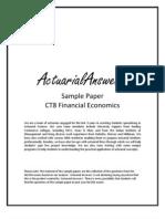 Actuarial CT8 Financial Economics Sample Paper 2011 by ActuarialAnswers