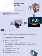 Political Risk Analysis & Investment Decisions IRM