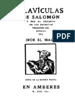 Claviculas de Salomon - Iroe El Mago
