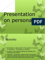 Presentation on Personality 2