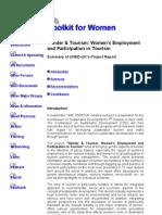 Gender & Tourism Report