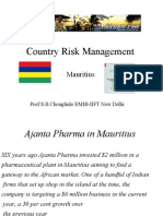 Country Risk Mauritus - 1