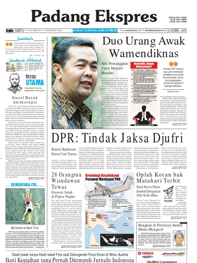 Koran Padang Ekspres Sabtu 15 Oktober 2011 Produk Ukm Bumn Batik Lengan Panjang Parang Toko Ngremboko