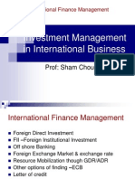 Investment Management in I. B.