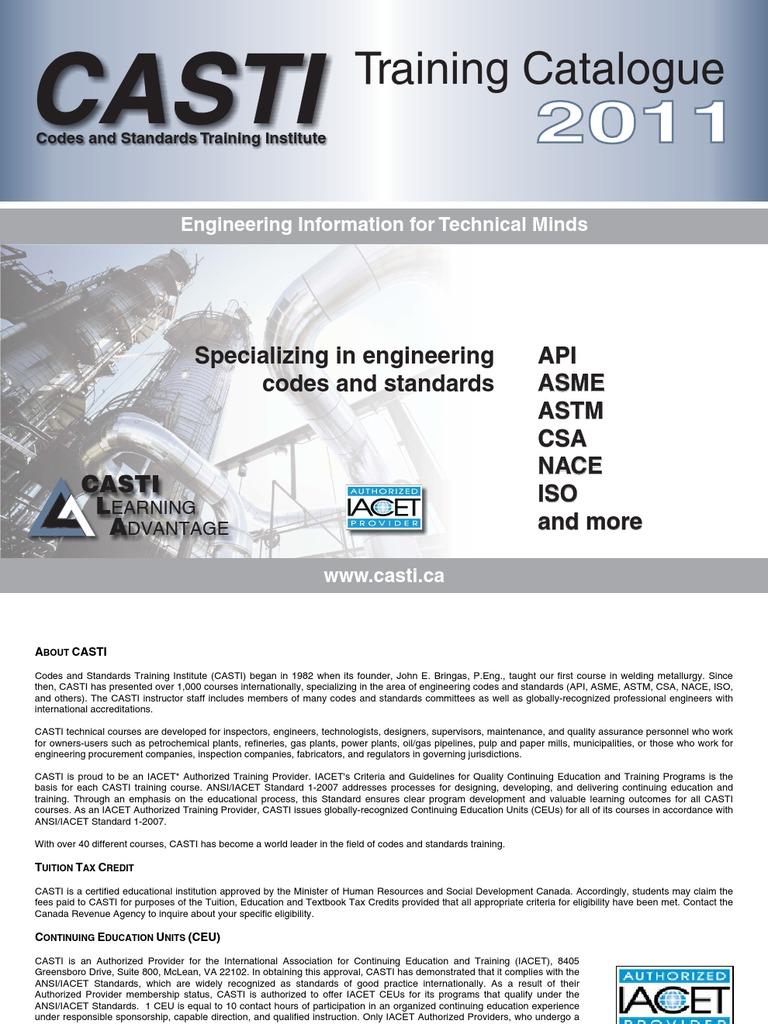 Course Brochure | Welding | Pipe (Fluid Conveyance)