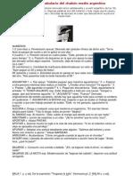 j - Pequeño vocabulario del chabón medio argentino