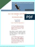 El v.m. Samael Aun Weor y El Dalai Lama 14-15 de Octubre