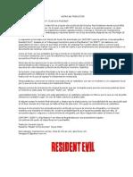Guión no autorizado de Resident Evil