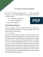 Method for Improved Inventory Management