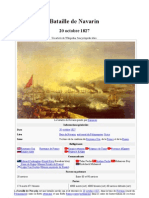 Bataille de Navarin 20 Octobre 1827. Wikipedia 2011
