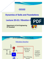 CE 532 Lecture 20-21 Vibration Absorber