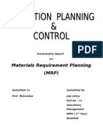 Joju - OPC - Materials Requirement Planning