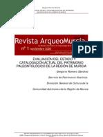 EVALUACIÓN DEL ESTADO Y  CATALOGACIÓN ACTUAL DEL PATRIMONIO  PALEONTOLÓGICO DE LA REGIÓN DE MURCI