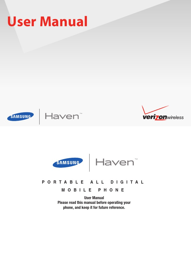 verizon wireless u320 haven eng ug voicemail speech recognition rh scribd com AT&T Phone Manuals Verizon LG Phone Manual