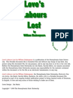 Love's Labours Lost - Shakespeare