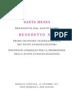 Santa Misa para la Nueva Evangelización.20111016