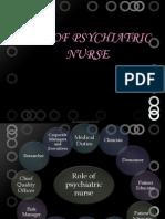 Role of Psychiaric Nurse