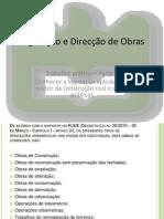 Legislação e Direcção de Obras